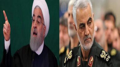 الرئيس الإيراني حسن روحاني وقاسم سليماني