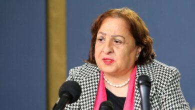 وزيرة الصحة الفلسطينة مي كيلة