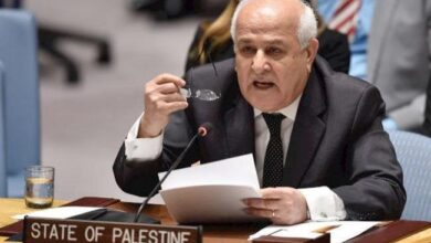 مندوب فلسطين في الأمم المتحدة رياض منصور