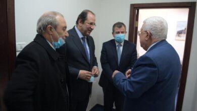 رؤساء المخابرات المصرية الأردنية في زيارة الرئيس عباس