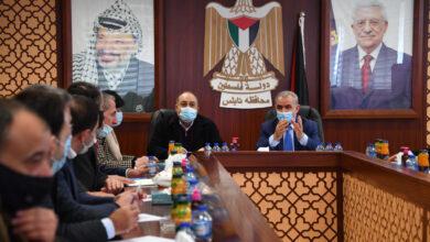 اجتماع رئيس الوزراء الفلسطيني محمد اشتية