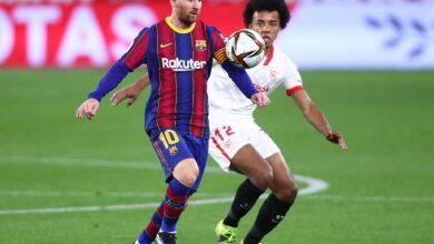مباراة برشلونة ونظيره إشبيلة في الدوري الإسباني