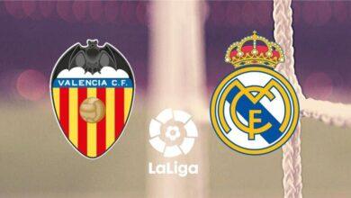 فريق ريال مدريد وفالنسيا