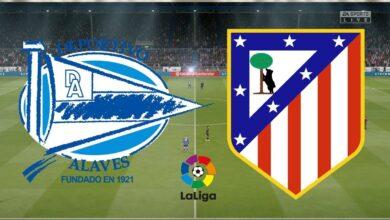 أتلتيكو مدريد وألافيس في الدوري الإسباني