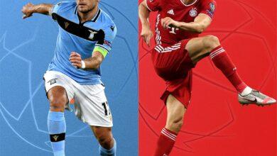 مباراة بايرن ميونيخ ولاتسيو في دوري أبطال أوروبا