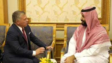 الملك عبد الله الثاني ومحمد بن سلمان